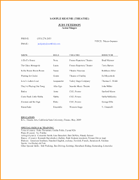 Acting Resume Example Best Of Acting Resume Template Cryptoave Pics