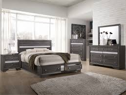 B4650 5 pc Regata collection grey finish wood bedroom set with ...