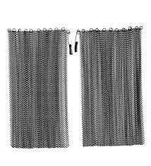black mesh curtain fireplace screen curtain pair 18 h x 48 w
