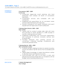 Catering Resume Stunning Catering Resume