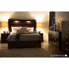 south shore gloria king headboard with lights  multiple