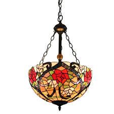 Floral Vermusterte Hängeleuchte Tiffany Stil Glas Schirm Im Schlafzimmer