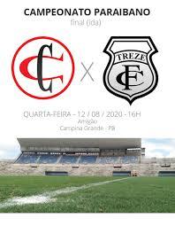 Campinense x Treze: confira prováveis escalações, desfalques e arbitragem  do jogo de ida da final | campeonato paraibano