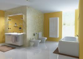Bathrooms  Ultra Mosaic Bathroom Design Porcelain Bathtub Also - Yellow and white bathroom
