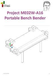 Bench Vise Mounted Metal Bender By Bobs409  I Found Videou0027s For Bench Bender