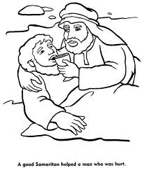The Good Samaritan Coloring Pages Bible Story Coloring Pages Parable