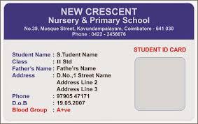 Identity Card Format For Student School Id Card Format Under Fontanacountryinn Com