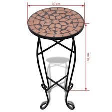 garden furniture table small round