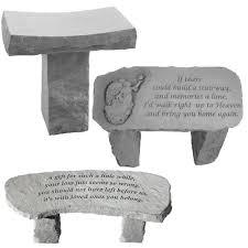engraved stone garden bench multiple