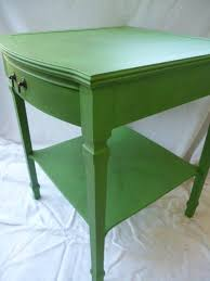 furniture refurbished. i love the shape of table great inspiration vintage hand painted green end salvaged furniturerefurbished furniture refurbished