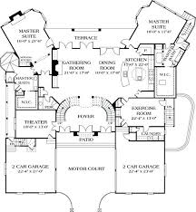 single level house plans with two master suites worthy ranch style house plans with two master