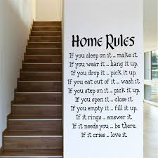 bedroom rules. creative quote wall decal 5787 diy vinyl home rules for living bedroom kids room