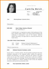 School Leaver Cv Template Public Auditor Cover Letter Format A