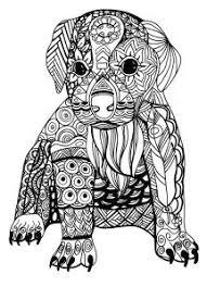630 Best Adult Colouringcatsdogs Zentangles Images Mandalas