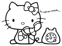 Welcome To Hello Kitty Coloring Pages