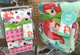 i m also excited about the super soft ariel themed blanket and matching flannel blankets oh my little heart continues to melt with all of this mermaid