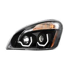 Freightliner Interior Lights Freightliner Cascadia Matte Black Projector Headlight W
