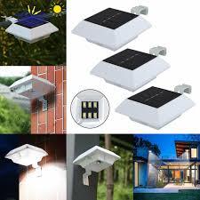Solar Powered <b>Gutter</b> Fence 6LED Lights <b>Outdoor</b> Garden ...
