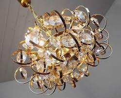 gold chandelier crystals new palwa sputnik chandelier gold plated crystal pendant lamp