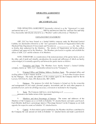 Business Operating Agreement 24 Small Business Operating Agreement Template Purchase Agreement 4