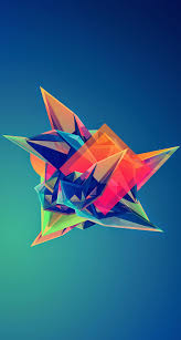colorful cool abstract polygonal shape iphone 6 plus hd wallpaper