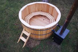 woodfired hot tub with external heater