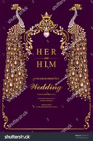 Design Invitation Cards Online Free India Indian Wedding Invitation Card Templates With Gold Peacock