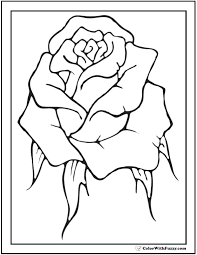 The color rose sits between red and magenta and is one of the main colors associated with love and romance. 73 Rose Coloring Pages Customize Pdf Printables