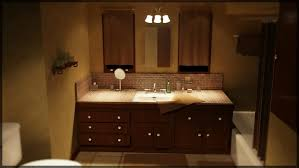 appealing bathroom lighting ideas with wall mount track lighting and brown wooden bathroom vanity and double wall mirrors bathroom track lighting ideas