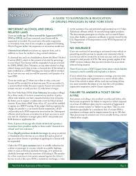 a guide to suspension revocation of driving privileges pages 1 quickchart net new york