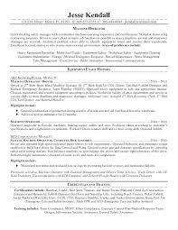Machine Operator Job Description For Resume