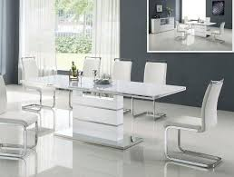 great modern white dining room table dining tables inspiring white modern dining table modern gl