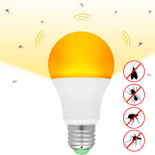 Yellow Light Bulbs Repel Bugs 2 Pcs Mosquito Killer Lamp Yellow Led Bug Light Bulb Auto On Off Outdoor 7w E26 27 Mosquito Repellent Light Bulb Night Light