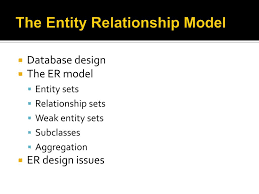 Er Design Issues Ppt The Entity Relationship Model Powerpoint Presentation