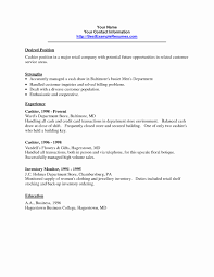 Cashier Resume Description Resumes Samples Luxury Job Resume Sample Cashier Examples for 74