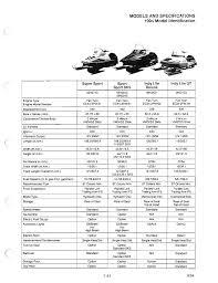 Polaris Snowmobile Belt Chart 1986 Polaris Indy Trail Manual