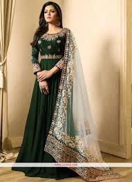 Images Of Designer Party Wear Salwar Kameez Lt 1707 Green Banglori Silk Latest Designer Partywear Salwar Suit