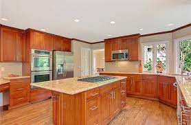 Cherry Cabinet Kitchens Cherry Kitchen Cabinets Kitchen With Wood Perimeter Cabinets And