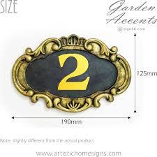 elegant door sign in antique gold finishing size dimension