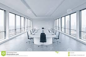 modern office room. board corporation meeting modern new office panoramic room a