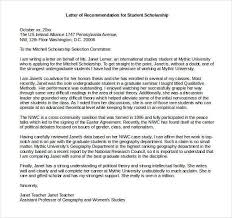 Recommendation Letter For Student Scholarship Pdf 29 Letters Of Recommendation For Scholarship Pdf Doc Free