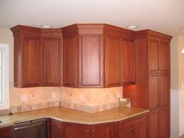 Kitchen Crown Molding Crown Molding On Kitchen Cabinets Adhesive Home Molding Ideas