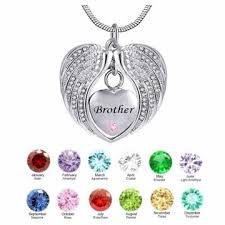brother heart angel wing birthstone