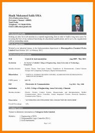 Sample Resume Format For Mba Hr Freshers Professional Resume