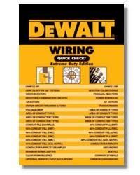 dewalt exam prep code references and trade pocket reference books dewalt wiring quick check