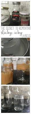 finally an easy way to remove stubborn sticky labels and residue from glass jars