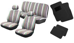 baja inca 12pc saddle blanket seat cover front pair bench for volkswagen vw golf com