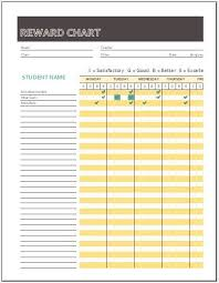 Behavior Chart Template For Word Reward Chart Templates 5 Printable Word Excel Pdf