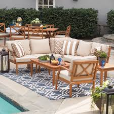 Wood outdoor sectional Wood Frame Belham Living Brighton Outdoor Wood Conversation Sectional Set Walmartcom Walmart Belham Living Brighton Outdoor Wood Conversation Sectional Set