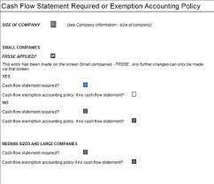 cash flow statements ias 12193 how do i take exemption form the cash flow statement